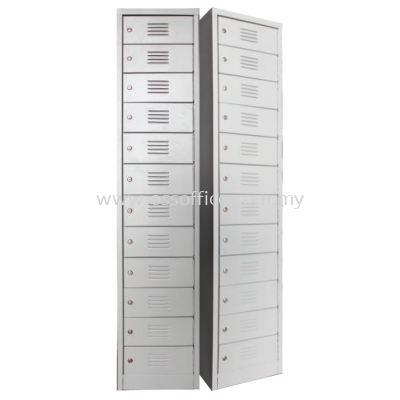 SCM-0005 12 Compartment Steel Locker with Steel Swinging Door C/W Camlock