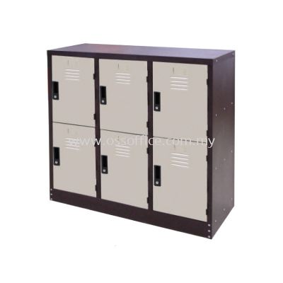 S128/A Half Height 6 Compartments Steel Locker