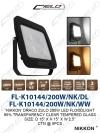 FL-K10144/200W/NK/DL/WW DOWN LIGHT LED LIGHTING