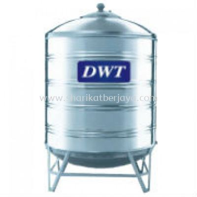 DWT VERTICAL ROUND BOTTOM WITH STAND 304 STAINLESS STEEL WATER TANK