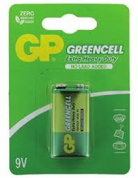 GP Greencell Batteries 9V (1pc/card) GP1604G-C1