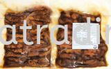 FS0113 Salmon Belly Teriyaki Sliced 10gm 照烧三文�~腩切片 (Halal) Sushi Topping / Ready To Use