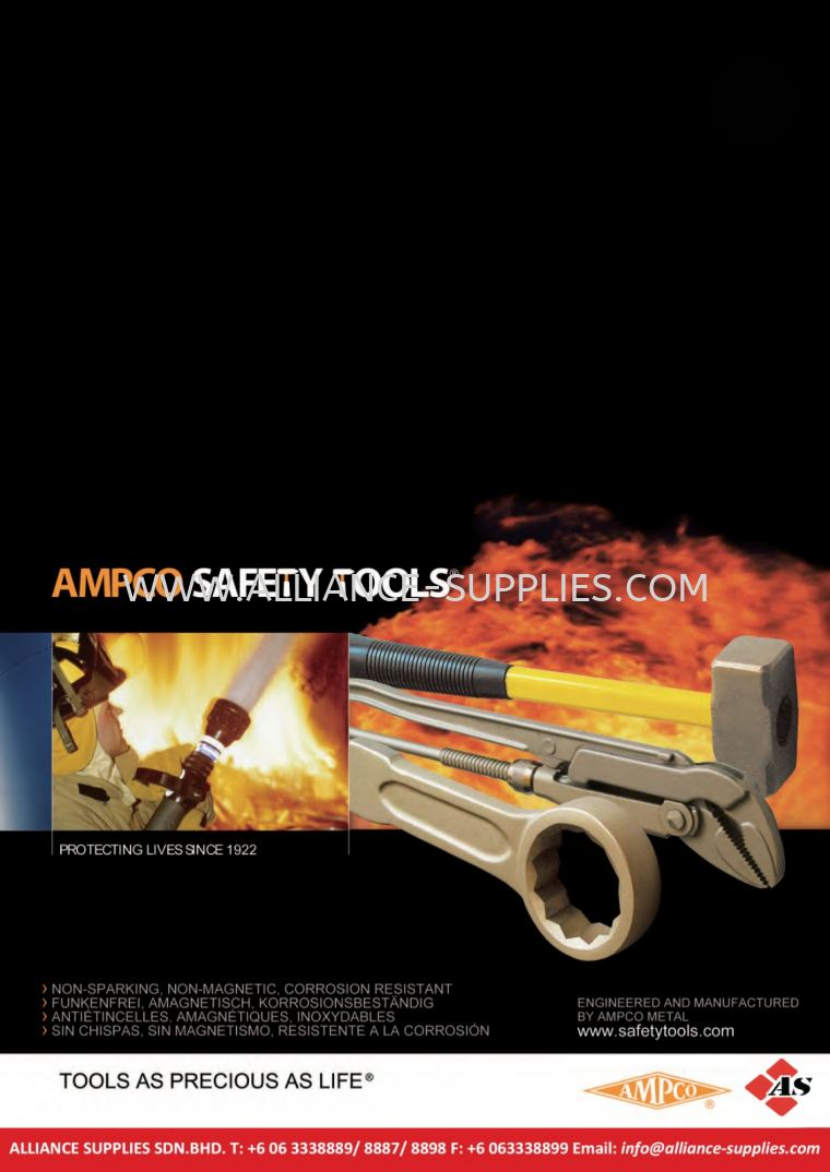 AMPCO Safety Tools (Switzerland)/ Non-Sparking Tools 14.00 AMPCO Quick Reference Guide 14.AMPCO SAFETY TOOLS/ NON-SPARKING NON-MAGNETIC HAND TOOLS
