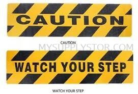 Floor Sign Label - Caution / Step