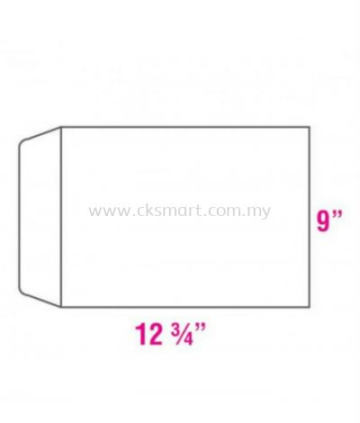 9 X 12.75 WHITE ENVELOPE