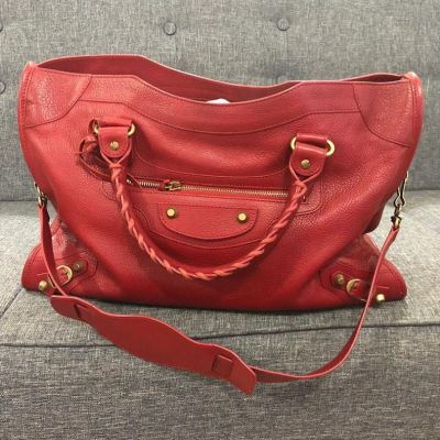 (SOLD) Balenciaga City in Red with GHW