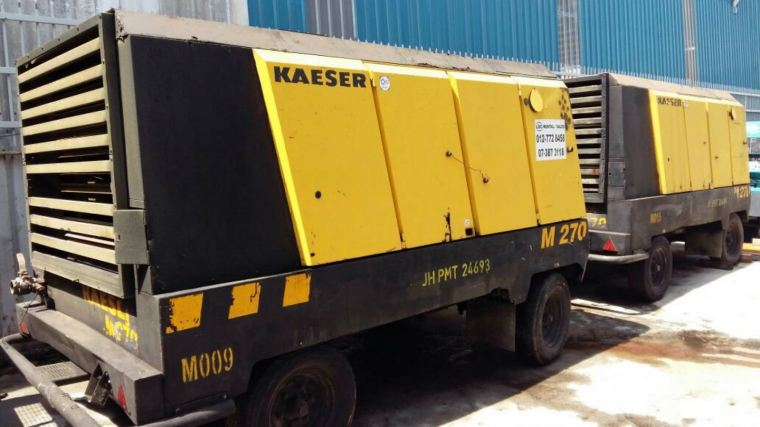 PROMOTION - USED KAESER MOBILAIR M270 (ENGINE MODEL : OM501LA) FOR SALES