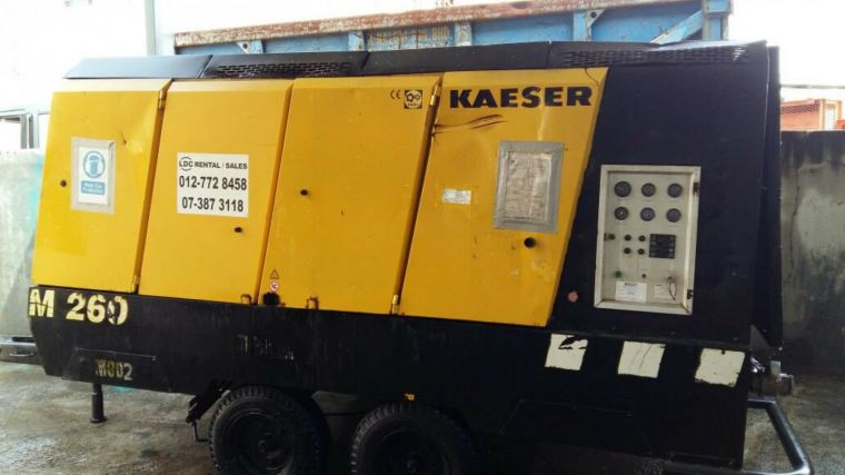 PROMOTION - USED KAESER MOBILAIR M260 (ENGINE MODEL : OM441A) FOR SALES