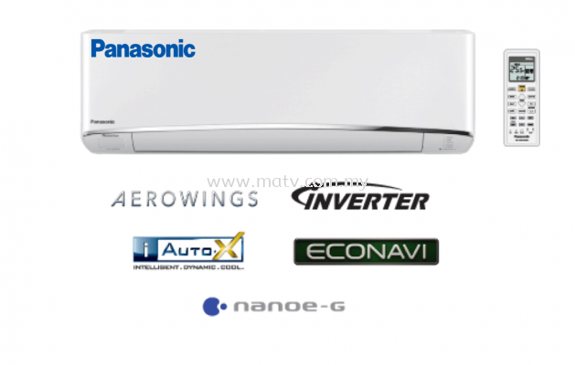 Panasonic CS-S10TKH (CU-S10TKH) 1.0HP Pium Inverter AERO Series Air Conditioner