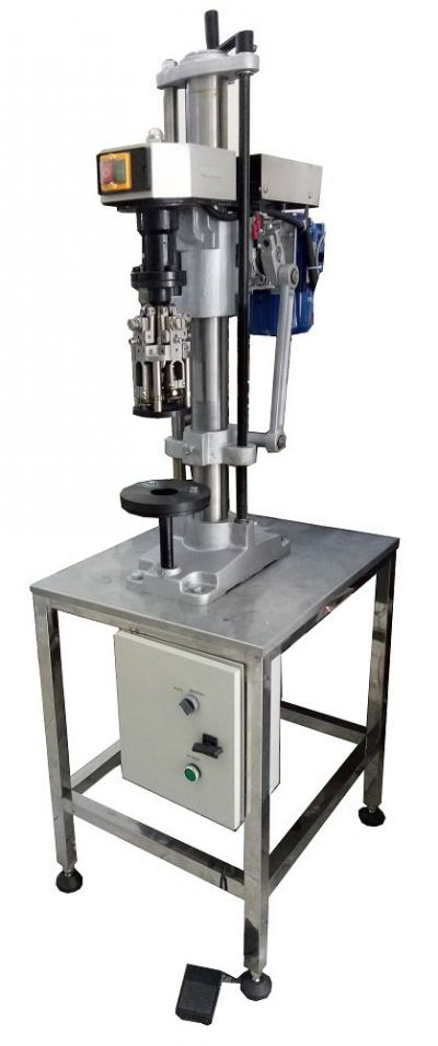 GLASS BOTTLE ROPP CAP CAPPING MACHINE