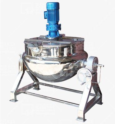 JACKETED STEAM COOKING TANK WITH TILTED STAND (CODE: 1100)