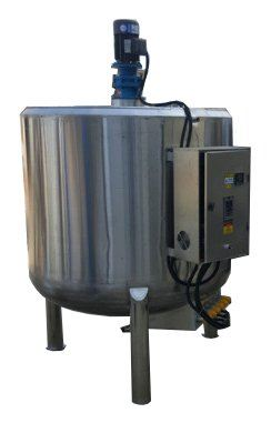 DOUBLE JACKETED STAINLESS STEEL HEATING MIXING TANK