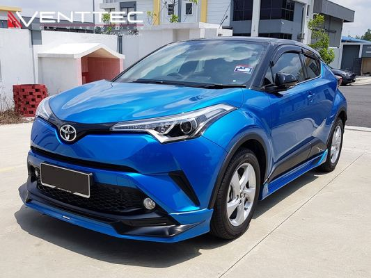 "TOYOTA CHR 18Y-ABOVE (3"" = 75MM)  - VENTTEC DOOR VISOR"