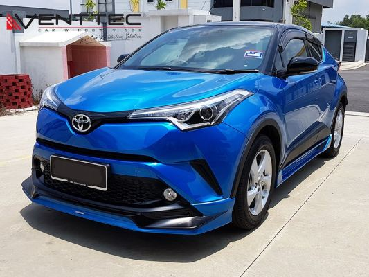 "TOYOTA CHR 18Y-ABOVE (4"" = 100MM)  - VENTTEC DOOR VISOR"
