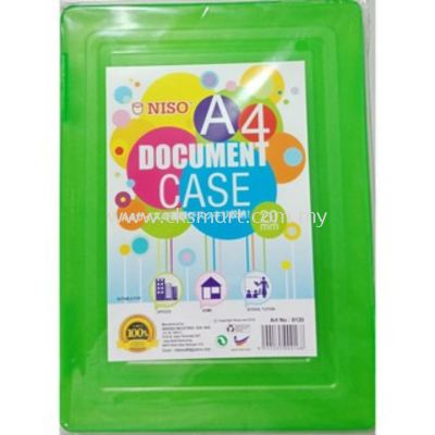 NISO A4 PLASTIC DOCUMENT CASE 20MM (NO. 8120