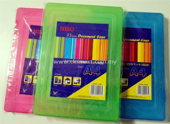 NISO A4 PLASTIC DOCUMENT CASE 35MM (NO.8140)