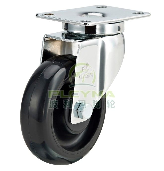 ESD Black PU - Swivel Top Pate  ESD Materials