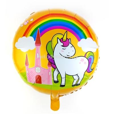 "Foil 18"" Unicorn  rainbow"