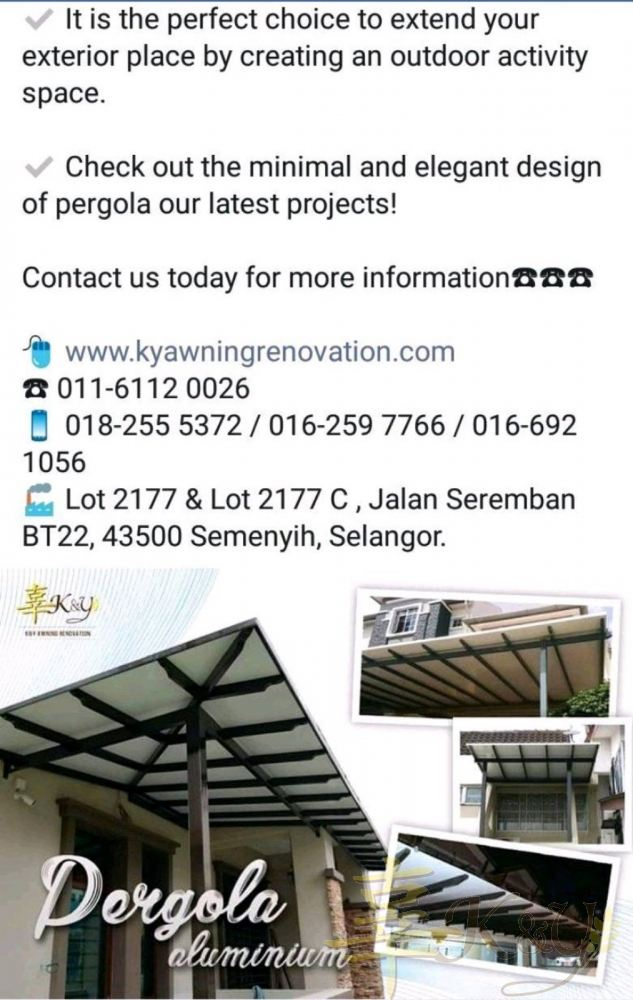 Facebook Sep (Aluminium Pergola )