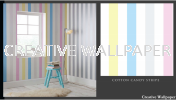 100096 cotton candy stripe G & B - Kids @ Home - 2017 Germany Wallpaper - Size: 53cm x 10m