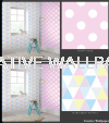 100101,100107 dotty pink,harlequin pastels G & B - Kids @ Home - 2017 Germany Wallpaper - Size: 53cm x 10m