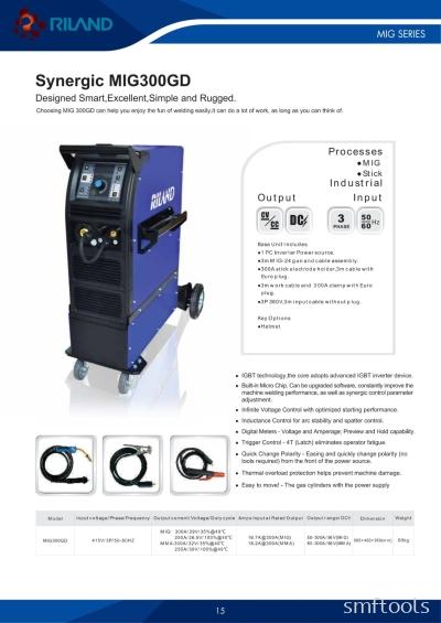 Riland Synergic MIG300GD Welding Machine