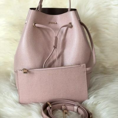 (SOLD) Furla Stacy Bucket Bag with Small Pouch (Two Ways Carry)