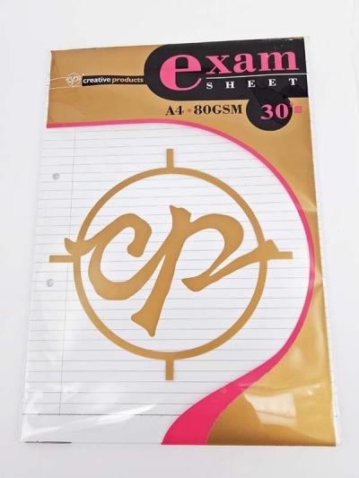 CP EXAM SHEET A4 30'S 80GSM