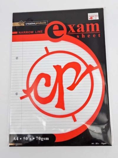CP EXAM SHEET A4 50'S 80GSM