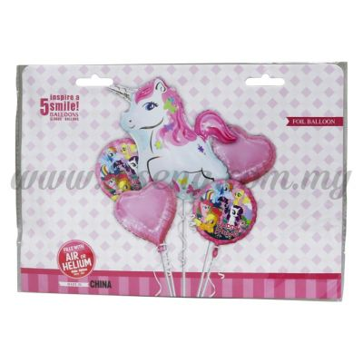 Foil Balloon Set (Unicorn & Pony) - 5in1 (FB-MC-T074)
