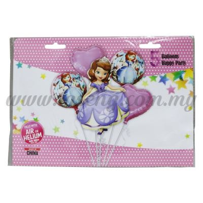Foil Balloon Set (Sofia) - 5in1 (FB-MC-T016)