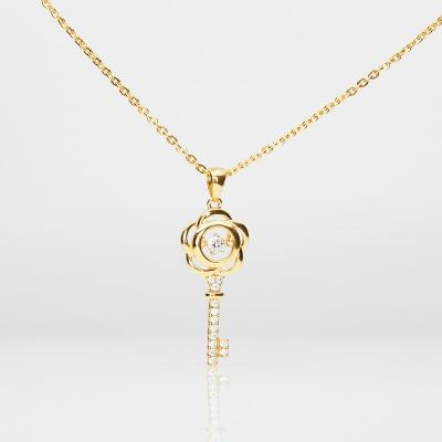 Heartbeat Key Pendant (916 Gold)