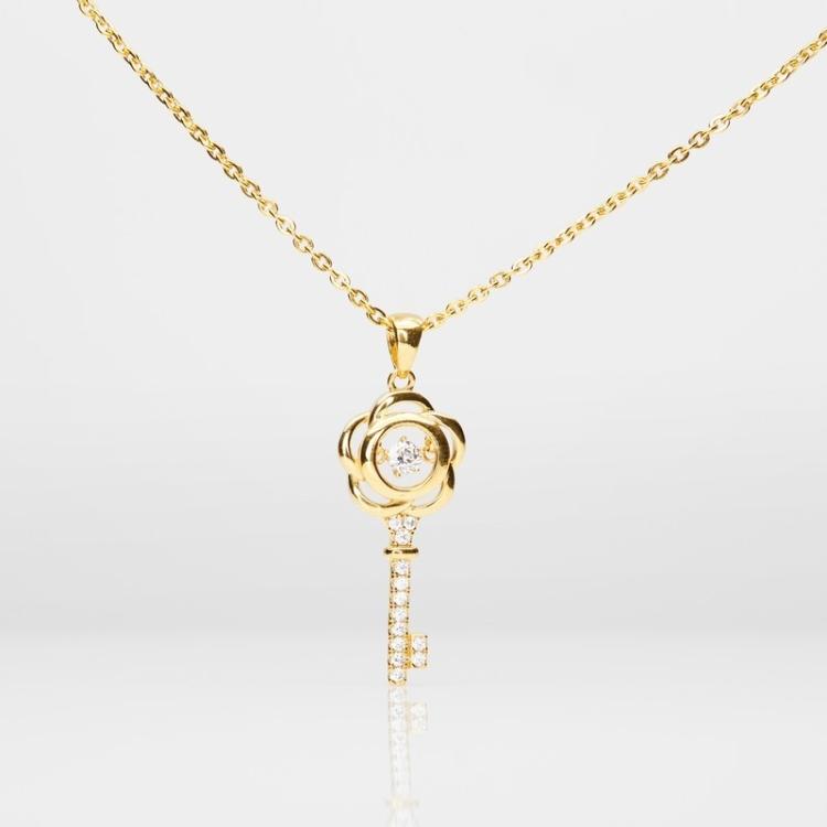 Heartbeat Key Pendant (916 Gold)