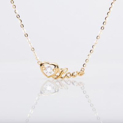 Heartbeat LOVE Necklace (916 Gold)