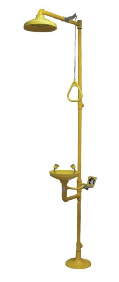 Method Floor Mounted Combination Unit of Drench Shower & Eyewash with ABS Bowls c/w Foot Pedal