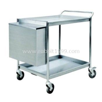 STAINLESS STEEL 2 TIERS TROLLEY - 2TT-1107/SS