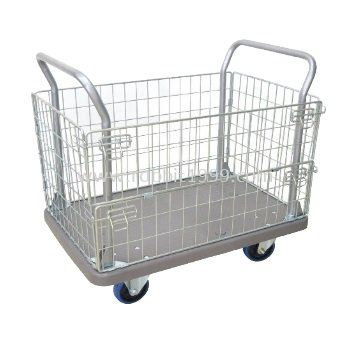 PE + POWDER COATING BASKET TROLLEY - PE-BASKET-1010/300