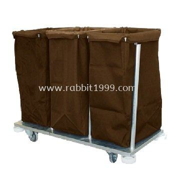 STAINLESS STEEL COLLECTION & SORTING OF SOILED LINEN TROLLEY
