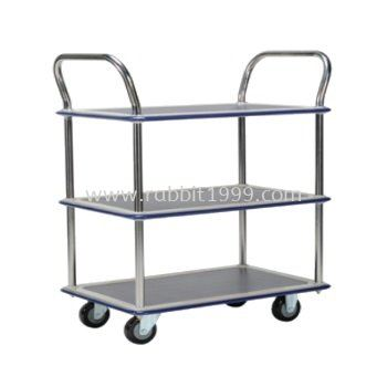 3 SHELF 2 HANDLE TROLLEY