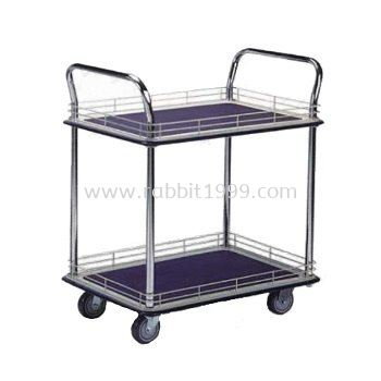 2 SHELF TROLLEY WITH LEDGE - MT-1029 , MT-1030