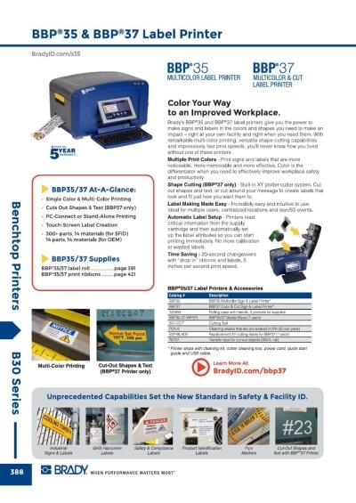 BBP35 & BBP37 Printer