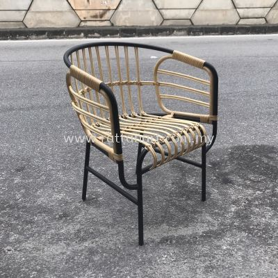 RATTAN + METAL DINING CHAIR AGRU