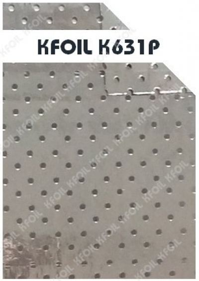 (K631P) D/S Perforated Reflective Metalized Paper Film, 8x8 Fiberglass Scrim Reinforced