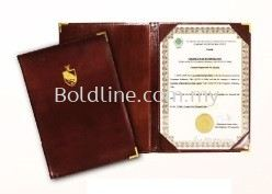 Certificate Holder - PU Leather