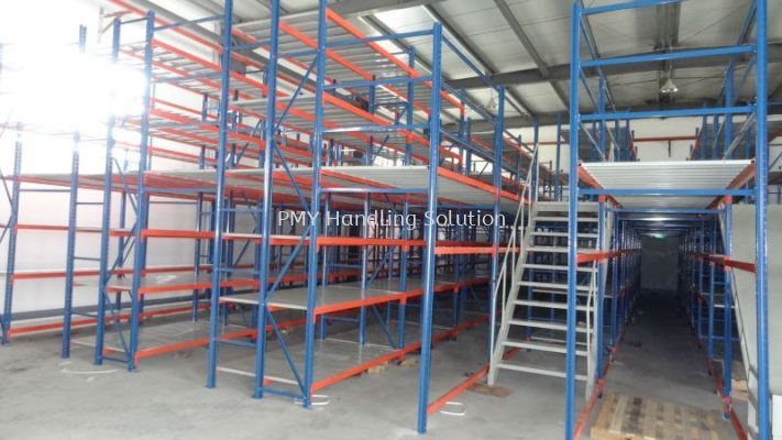 Heavy Duty Shelving with Mezzanine Floor