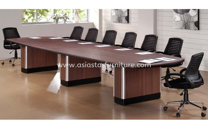 D 388 BOAT SHAPE CONFERENCE TABLE