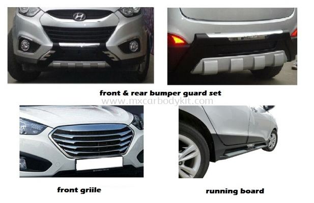 HYUNDAI TUCSON BUMPER GUARD SET