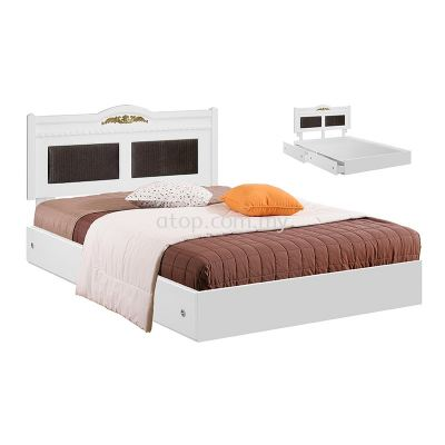 Atop ATN 8616WH King Size Bed Frame