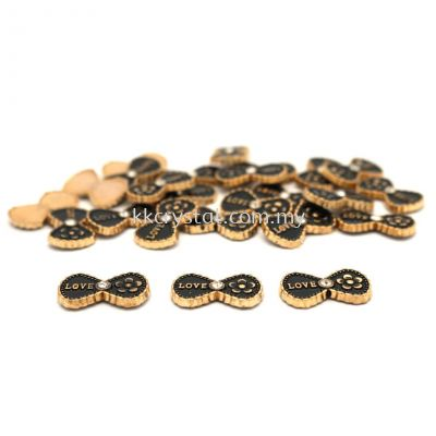 Iron On Metal, Code 18-12#, 21# Black, 25pcs/pack