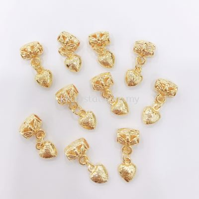 Charm Dangling, 8mm, 0283052, White Gold Plating, Gold Plating,10pcs/pack
